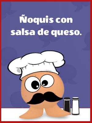 Ñoquis Con Salsa De Tres Quesos Al Estilo Sr. Potato