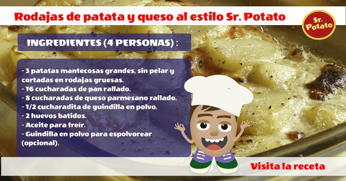 Rodajas De Patata Y Queso Al Estilo Sr. Potato