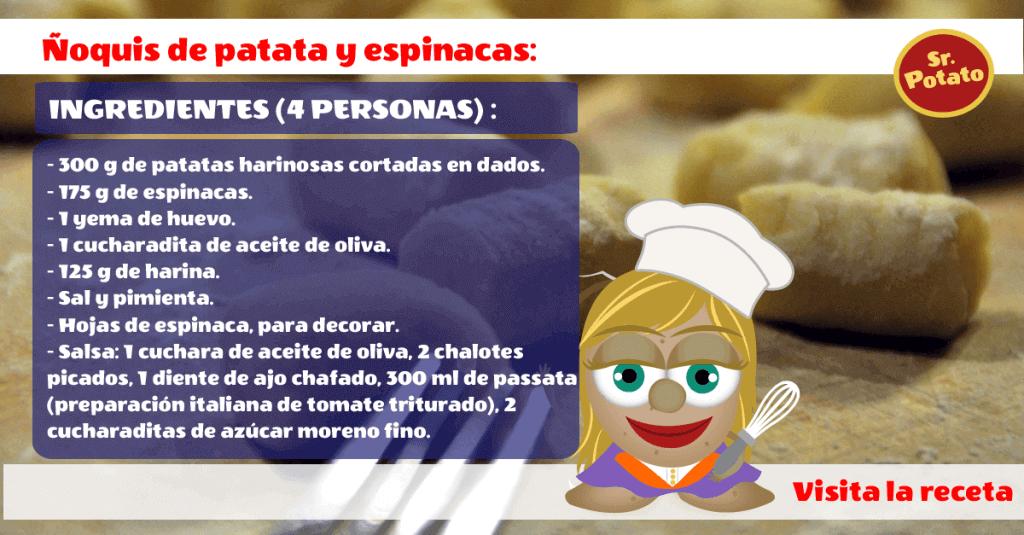 Ñoquis De Patata Y Espinacas Para Atraer La Suerte Al Estilo Sr. Potato