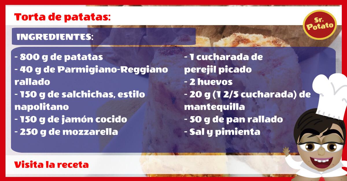 Torta De Patatas Al Estilo Sr. Potato. ¡Para Chuparse Los Dedos!