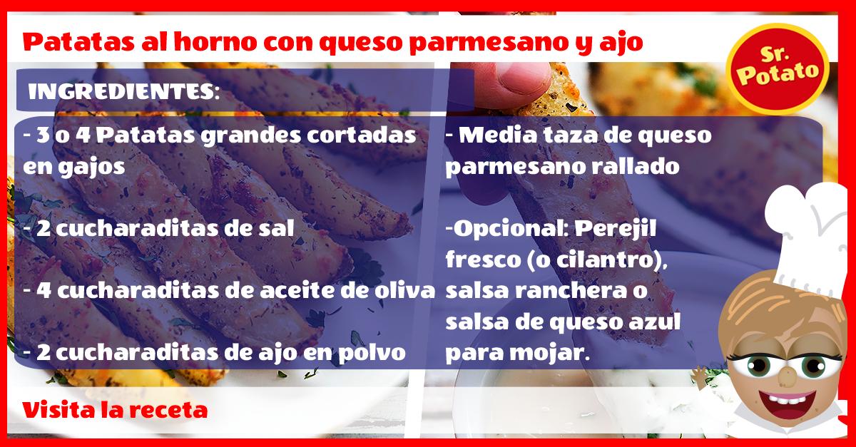 Patatas Al Horno Con Queso Parmesano Y Ajo