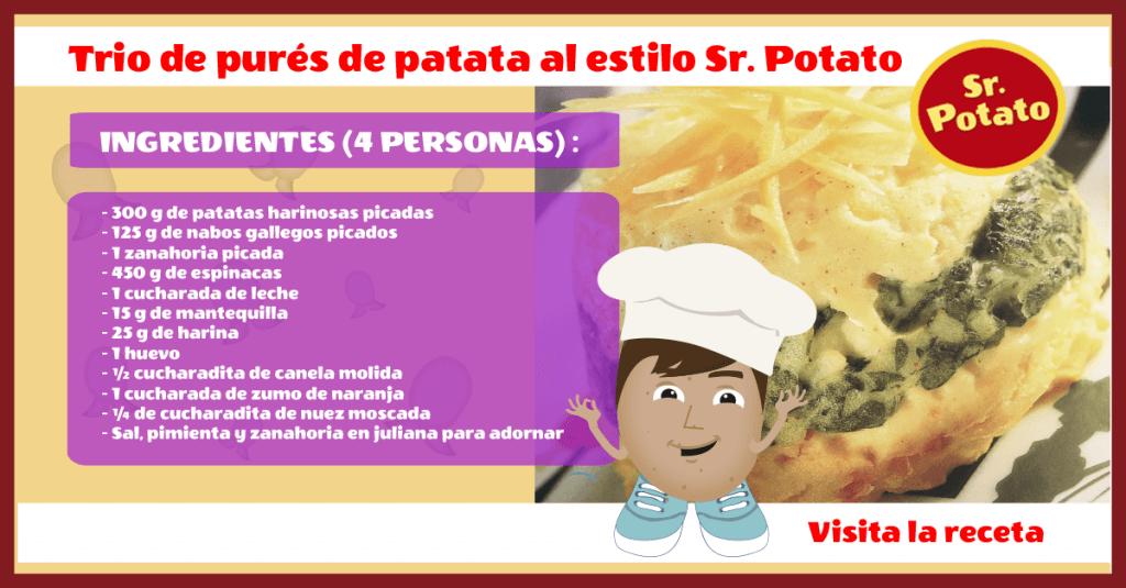 Trio De Purés De Patata Al Estilo Sr. Potato