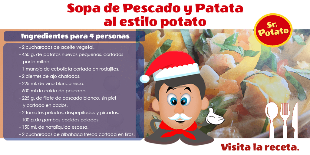 Sopa De Pescado Y Patata Al Estilo Sr. Potato