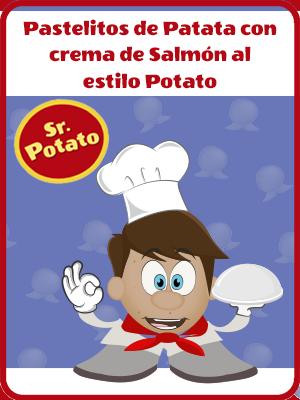 Pastelitos De Patata Con Crema Agria Y Salmón Al Estilo Potato