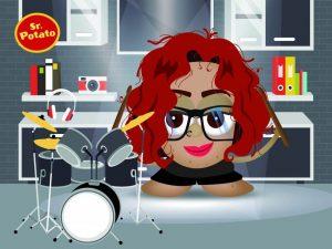 Kat Almagro Potato con la batería