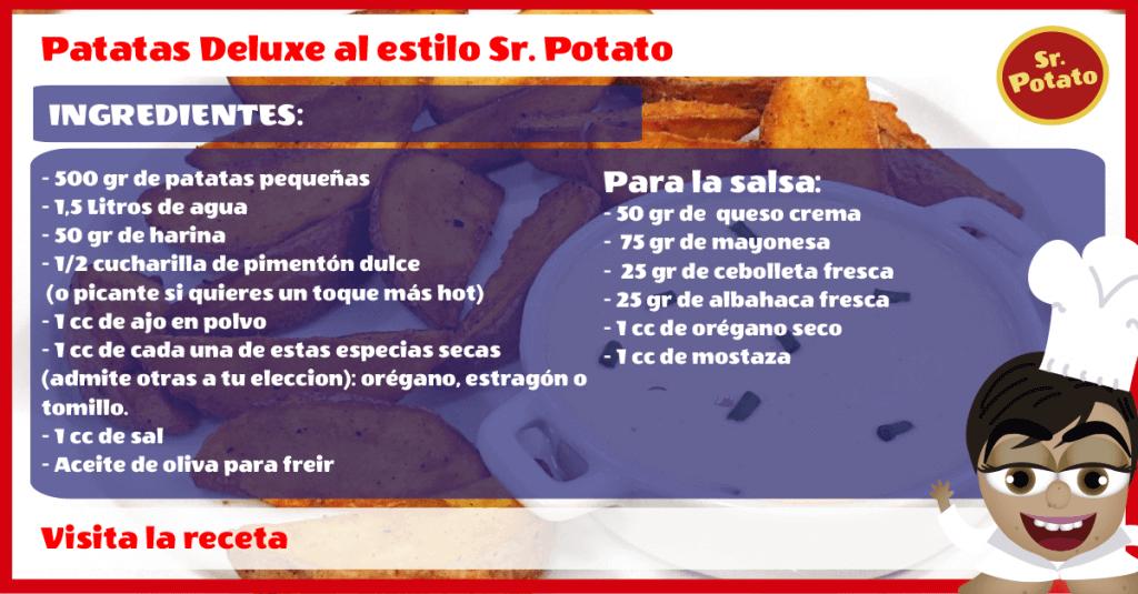 Patatas Deluxe Con Salsa Al Estilo Sr.Potato