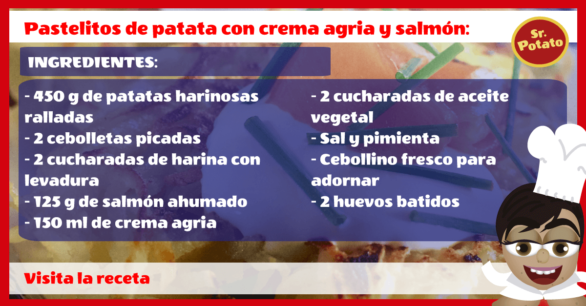 Pastelitos De Patata Con Crema Agria Y Salmón