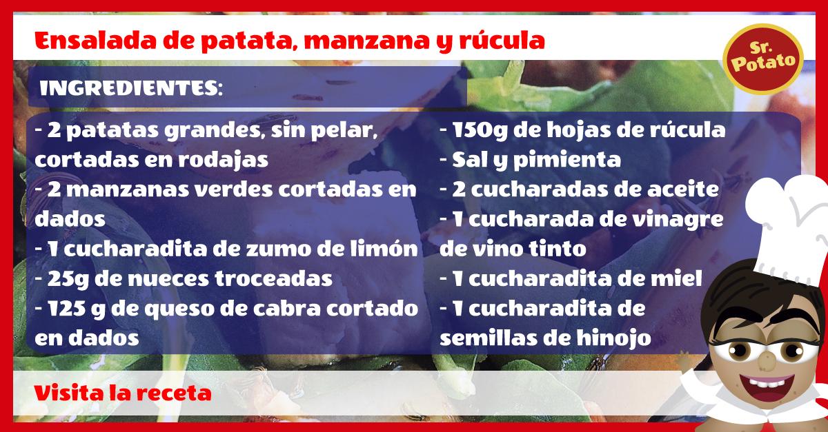 Ensalada De Patata, Manzana Y Rúcula