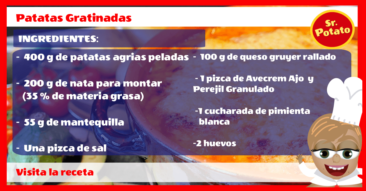 Receta Patatas Gratinadas Potato