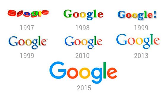 Evolución en el diseño de logotipos (Google)