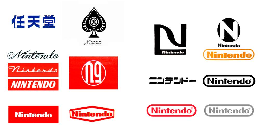 Evolución en el diseño de logotipos (Nintendo)