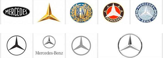 Evolución en el diseño de logotipos (Mercedes Benz)
