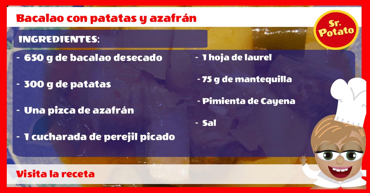 Bacalao Con Patatas Y Azafrán